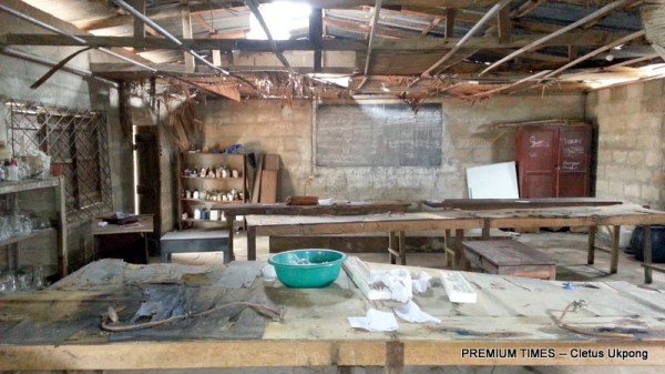 The science lab, Ntiat and Mbak 1 Comprehensive Sec Sch, Itu
