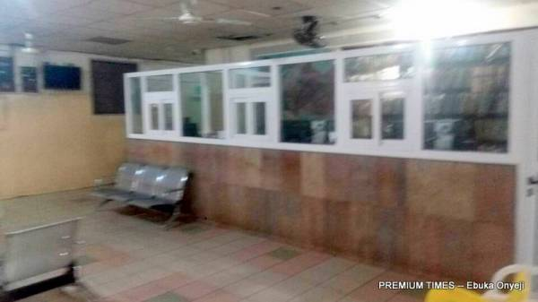 Empty post/antenatal reception at Wuse District Hospital