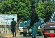 Nigerian Police officers on duty