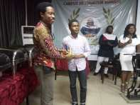 Adekunle Adebajo receiving the award for the Best Opinion piece.