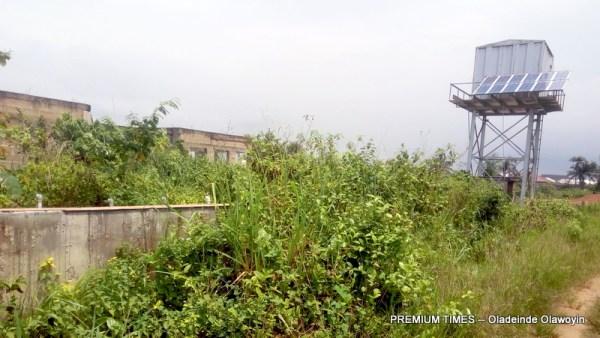 The solar borehole at the abandoned Ewu-Abiye health centre