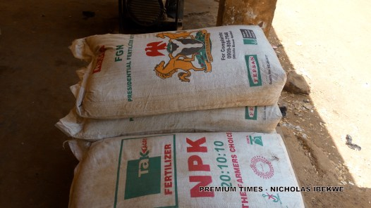 Bags of NPK Fertilzer