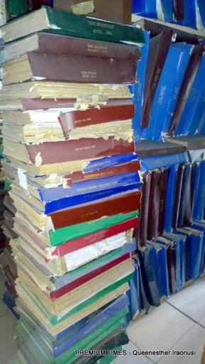 Layout of termite-infested books.