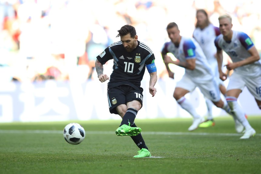 Messi lost a penalty kick against Iceland