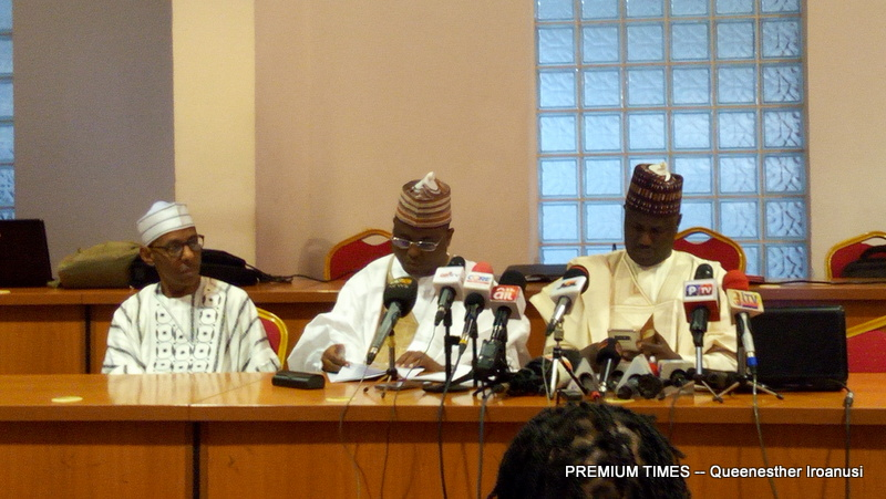 Aliyu Abdullahi, Chairman, Senate Committee on Media and Public Affairs, and Abdulrazak Namdas, his House of Representatives counterpart