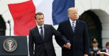 France President, Emmanuel Macron and U.S. President, Donald Trump