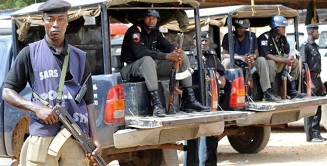 Nigeria Police officers are working with the military to counter insurgency.