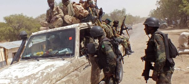Nigerian Army in Damboa, Borno state (Photo Credit: Sahara Reporters)