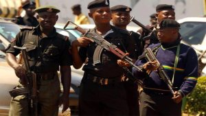 Nigerian Police officers used to illustrate the story