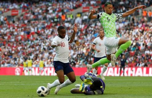 Raheem Sterling goes down with no contact. Photograph: Carl Recine/Action Images via Reuters (Photo Source: Guardian UK)