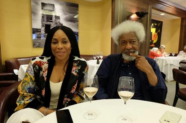Mo Abudu and Wole Soyinka
