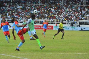 Super Eagles match against DR Congo [PHOTO CREDIT: PREMIUM TIMES - Tunde Eludini]