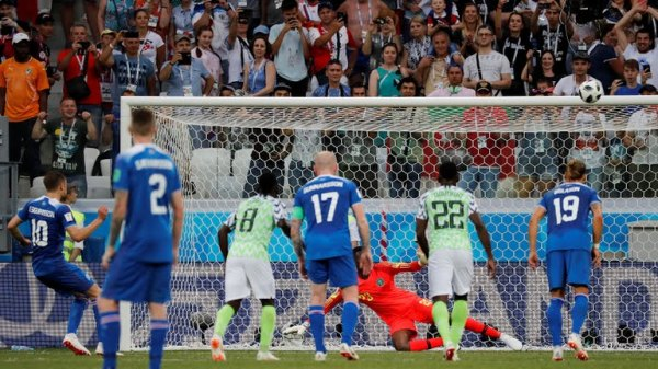 Sirgudson lost a penalty late in the game. [Photo: Reuters]