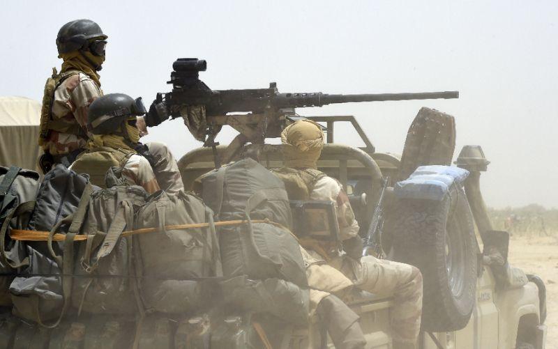 Nigerian Soldiers on gun truck. [Photo credit: Yahoo]