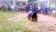 8:55am Erinmope 2, Ward Ward 7, Unit 9. The election is in progress. The PO of this unit only complain about the Card Reader's malfunctioning.