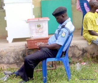 Security personnel on duty during elections