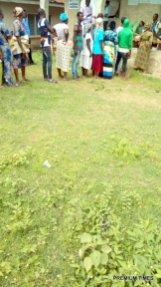 Efon ward 5,unit 016 open place ijao-ijao , voting in progress, Efon Alaye 11:20am.