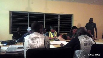 Counting has commenced at INEC Local government office for Irepodun-Ifelodun LG situated in Igede