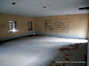 A classroom at the abandoned model science school in Uruan, Akwa Ibom state. Photo_Cletus Ukpong