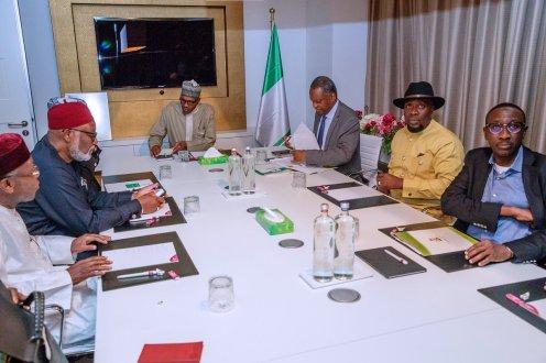 Buhari arrives Netherlands 2