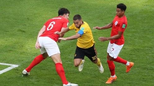 Eden Hazard in action against England