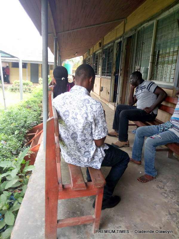 Evangelist Dan's Clients awaiting their licences right inside VIO and FRSC offices at Old secretariat