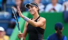 Garbine Muguruza used to illustrate the story. [Photo credit: Daily Express]