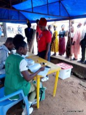 Arrived 8:01am Accreditation ongoing. Jola Ade PO says no challenge encountered so far. Only two party agents, PDP, APC present and began the voting process. Security personnel present at the scene. 307 reg voters . RA Code 9 PU 14