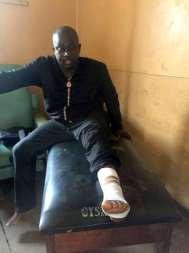 Nigerian professor, Pius Adesanmi, involved in road accident. [Photo credit: Pius Adesanmi]