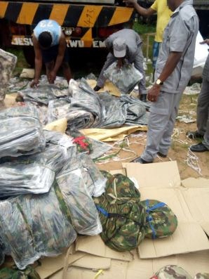 NCS Intercepts Smuggled Military Hardware in Owerri