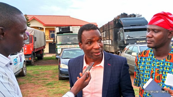 Segun Adewale of ADP speaking with Premium Times outside the venue of the debate