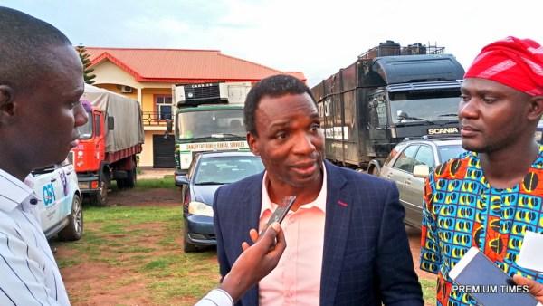 Segun Adewale of ADP speaking with Premium Times outside the venue of the debate