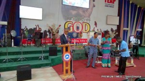 Minister of Trade and Investment, Okechukwu Enelamah at a skills acquisition and empowerment programme organised by The Everlasting Arms Parish (TEAP) under the Redeemed Christian Church of God (RCCG), Abuja
