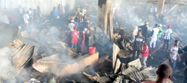 Jos Terminus Market after the fire