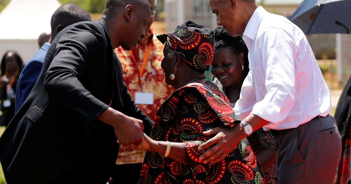 Obama spent a week holidaying in Tanzania before coming to Kenya