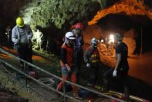 US military joining search for boys lost in Thailand cave