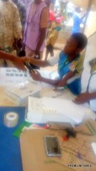 8:32am at IgboOloko/ODO ESE opposite Nepa office, Ward A. Ijero local government Accreditation and elections ongoing
