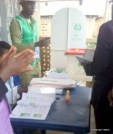 INEC officiala ready at Ekiti East LG 7:53am, Araromi code 03 PU Town Hall