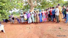 At 8:39, Ilejemeje LGA, Ward 6, PU 001, voting process has commenced, security personnel present and party agents.
