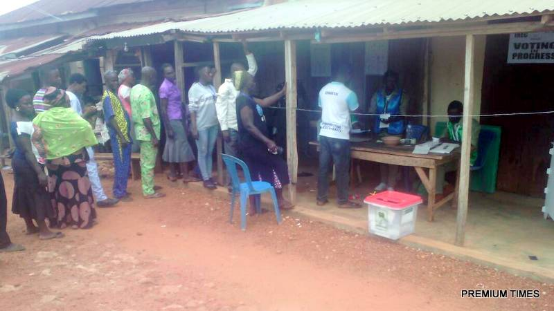 Unit 07, ward 05, ipoti in Ijero LG, the total number of voters are 414. According to the PO taiwo, said electoral process started 8am