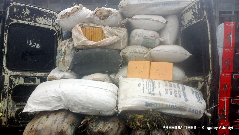 Indian hemp impounded by the Nigeria Customs