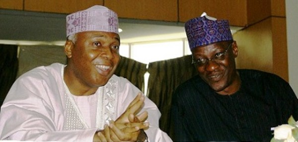 Bukola Saraki and Abdulfatah-Ahmed