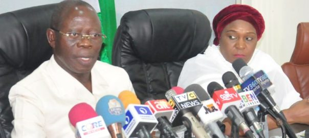 National Chairman of the All Progressives Congress, Adams Oshiomole