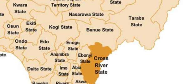 Ebonyi and Cross River States on map