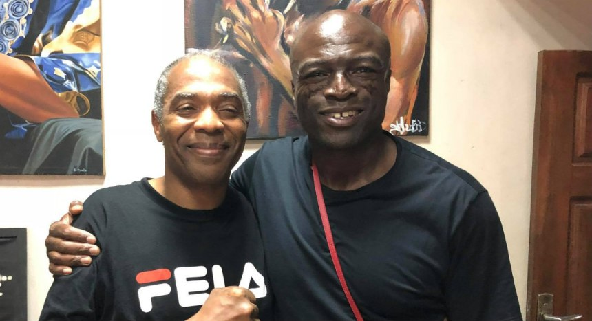 Femi Anikulapo Kuti and Seal at Afrika Shrine