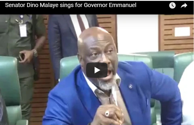 Dino Melaye mocks Akpabio in new video