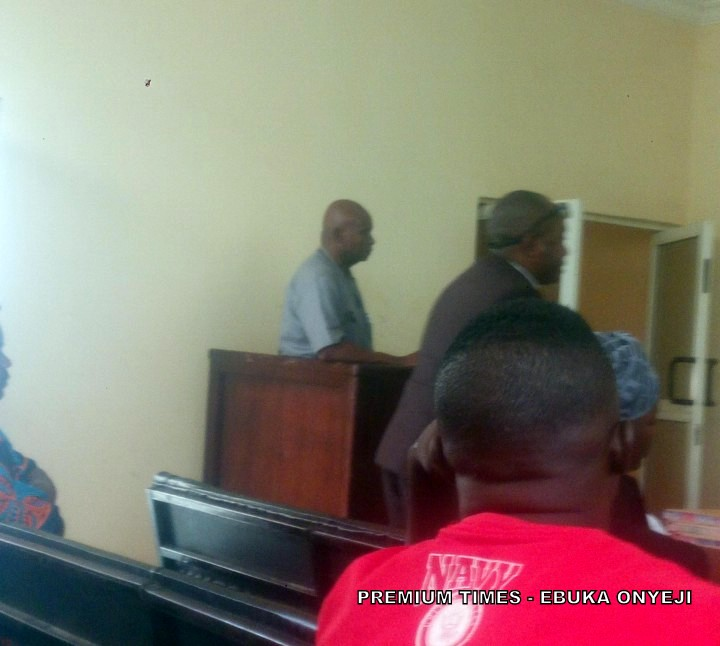 Mr Mbilitem docked at grade1 court Karshi.