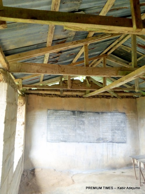 One of the class rooms at the school