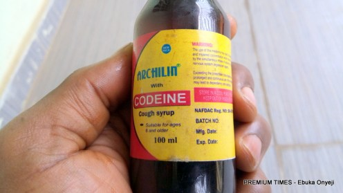 Archilin, one of the many varieties of cough syrup with Codeine. Bought from a drug bandit in Wuse Zone 4, Abuja at N2,000.