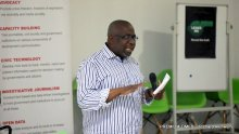 Dapo Olorunyomi, The Publisher of Premium Times speaking at #JournalistsWelfareMatter